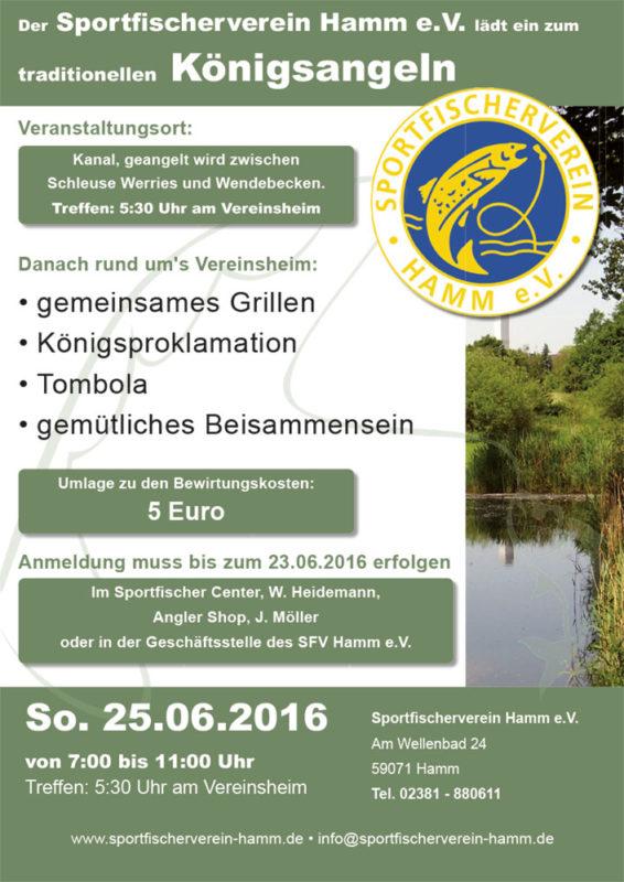 Plakat A2 Sportfischer Königsangeln 2017